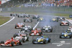 Start: Michael Schumacher ve field