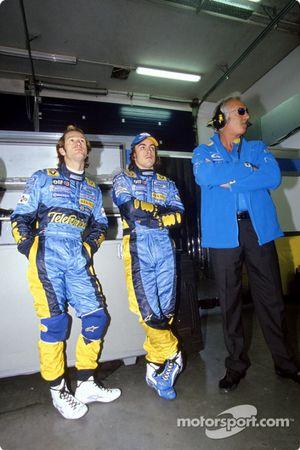 Fernando Alonso, Jarno Trulli ve Flavio Briatore