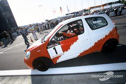 Olivier Panis a Toyota Yaris Cup Car