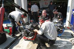 Major engine work on Ward Burton's car