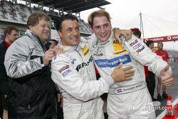 Christijan Albers mit Jean Alesi und Mercedes-Sportchef Norbert Haug
