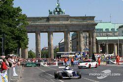 DTM vs football event in Berlin: parade in Berlin