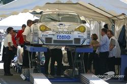 La Porsche 911 GT3 RSR du Choroq Racing Team à la première scène