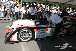 Scrutineering over for Audi Sport Japan Team Goh Audi R8