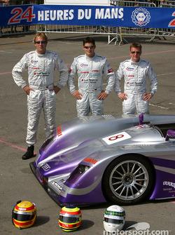 L'Audi R8 n°8 d'Audi Sport UK Team Veloqx (Frank Biela, Pierre Kaffer, Allan McNish)