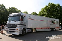 Larbre Competition transporter arrives at scrutineering