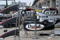 McLaren pit area