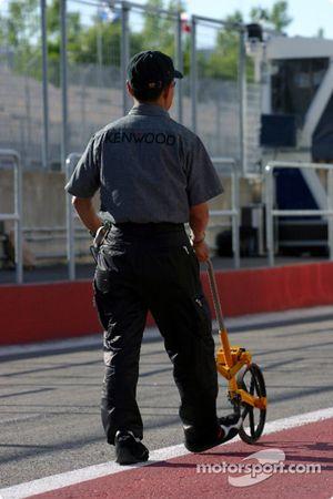 Medición de Pitlane en McLaren