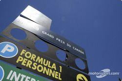 Canadian GP paddock area