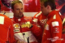 Rubens Barrichello y Luca Badoer