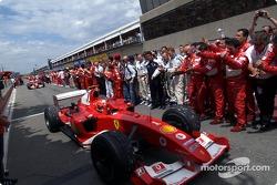 Ganador de la carrera Michael Schumacher