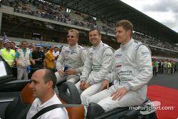 Drivers presentation: Johnny Herbert, Jamie Davies, Guy Smith