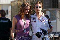 Jenson Button y su novia Louise