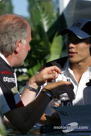 David Richards y Takuma Sato