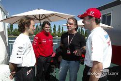 Cristiano da Matta, Ricardo Zonta, Emerson Fittipaldi y Olivier Panis