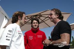 Cristiano da Matta, Ricardo Zonta y Emerson Fittipaldi