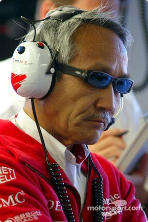 Toyota team principal Tsutomu Tomita