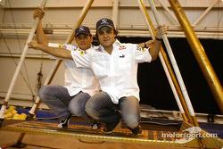 Sauber visite le Cirque du Soleil : Giancarlo Fisichella et Felipe Massa