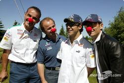 Sauber visite le Cirque du Soleil : Felipe Massa et Giancarlo Fisichella
