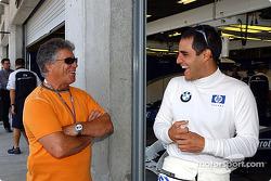 Mario Andretti and Juan Pablo Montoya