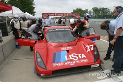 Doran Lista Racing pit area