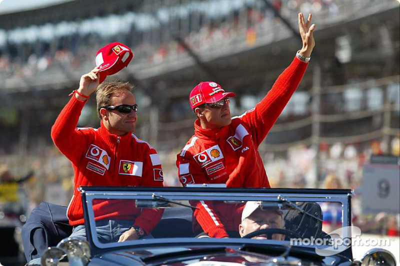Drivers presentation: Rubens Barrichello ve Michael Schumacher