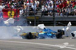 Unfall von Fernando Alonso