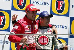 Podium : Rubens Barrichello et Takuma Sato