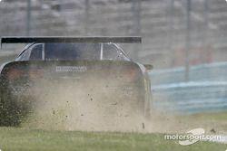 #24 Specter Werks/Sports Corvette: Jeff Nowicki, Tom Bambard goes off-track