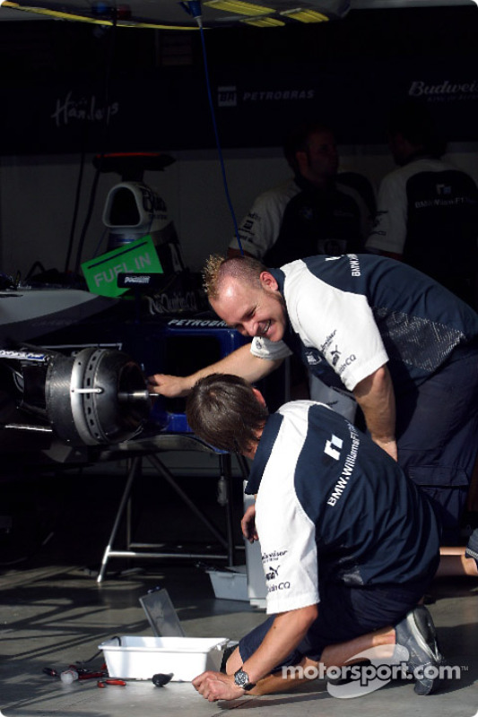 Zona de garage de Williams-BMW