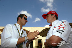 Helio Castroneves and Olivier Panis