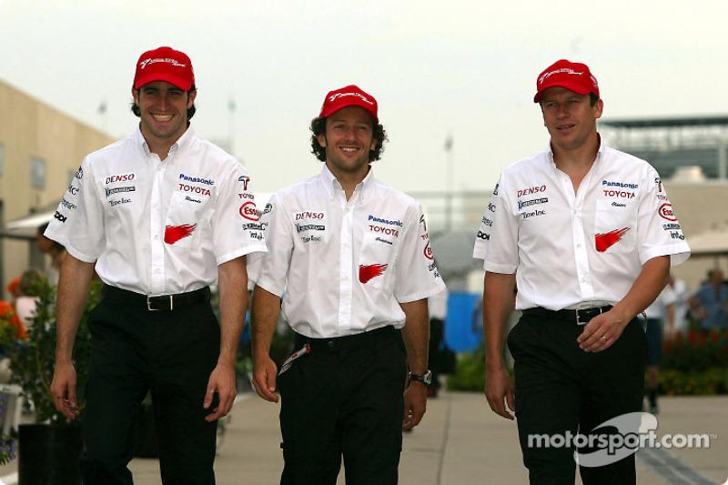 Ricardo Zonta, Cristiano da Matta and Olivier Panis