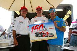 Olivier Panis celebra 150 Grandes Premios con Cristiano da Matta y Jarno Trulli