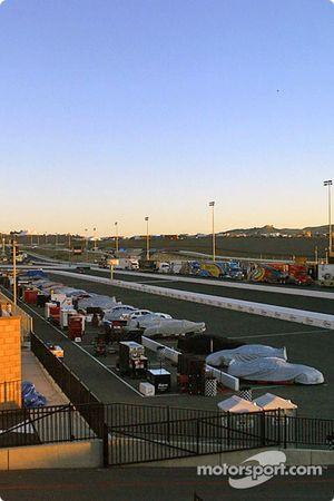 Lever de soleil sur l'Infineon Raceway