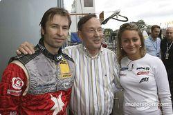 Heinz-Harald Frentzen avec son père et sa soeur Nicole-Nadine