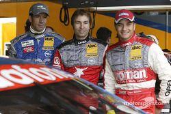 Manuel Reuter, Heinz-Harald Frentzen and Timo Scheider