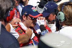 Victory circle: race winner Jeff Gordon
