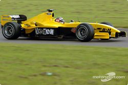 Nigel Mansell tests Jordan EJ14