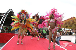 Another tradition at Le Mans: the samba dancers
