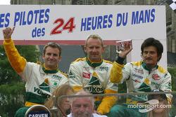 Romain Dumas, Ralf Kelleners et Stéphane Ortelli