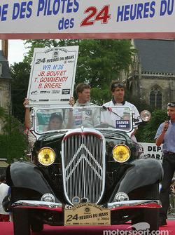 Jean-Bernard Bouvet, Tristan Gommendy et Bastien Brière