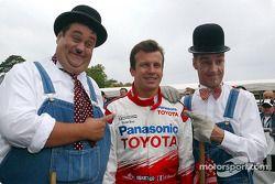 Olivier Panis avec Laurel et Hardy