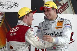 Podium: race winner Gary Paffett with Mattias Ekström