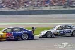 Christijan Albers, Team HWA, AMG-Mercedes C-Klasse 2004; Mattias Ekström, Team Abt Sportsline, Audi A4 DTM 2004