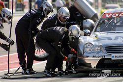 Boxenstopp-Training: Christijan Albers, Team HWA, AMG-Mercedes C-Klasse 2004