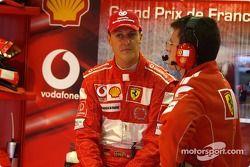 Michael Schumacher, Ferrari, mit Chris Dyer