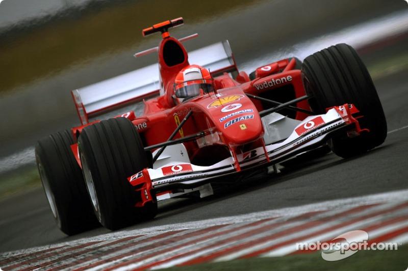 Michael Schumacher a 79. győzelmét ünnepelte ezen a futamon