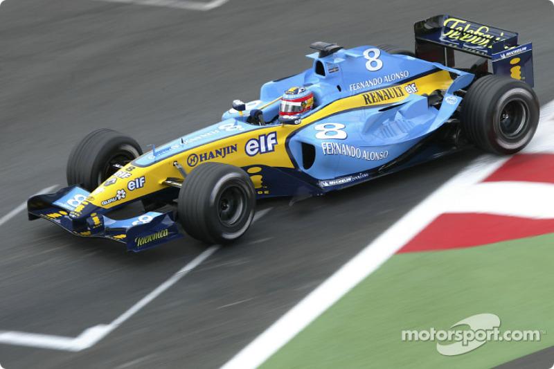Renault en el Gran Premio de Francia 2004: el diseño trajo suerte a Alonso, que fue segundo en esa carrera