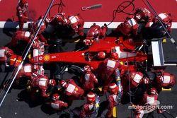 Pitstop voor Michael Schumacher