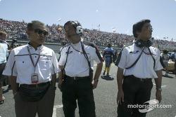 Takeo Kukui, Shuhei Nakamoto y Takeo Kiuchi